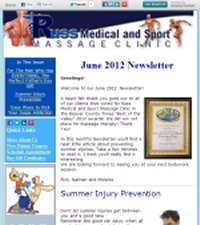 June 2012 Newsletter-Russ Medical and Sport Massage Clinic