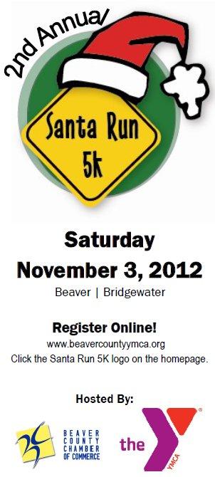 Santa Run 5K 2012 Beaver/Bridgewater, PA 15009